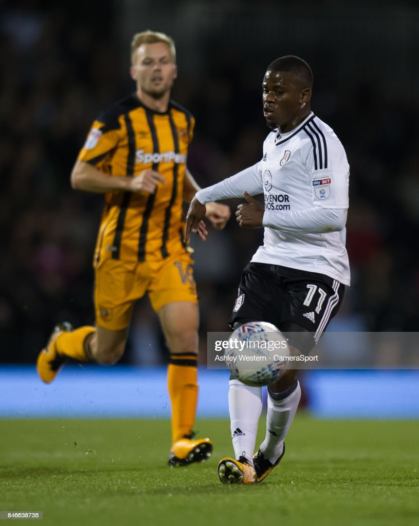 Fulham's Floyd Ayite in action during the Sky Bet Championship match between Fulham and Hull City at Craven Cottage on September 13, 2017 in London, England.