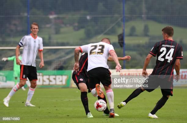 Fulham's Jamie O'Hara and Eintracht Frankfurt's Luca Waldschmidt