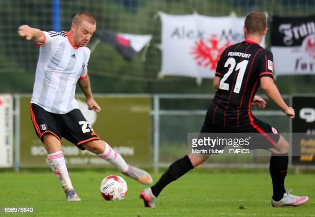 Fulham's Jamie O'Hara and Eintracht Frankfurt's Marc Stendera
