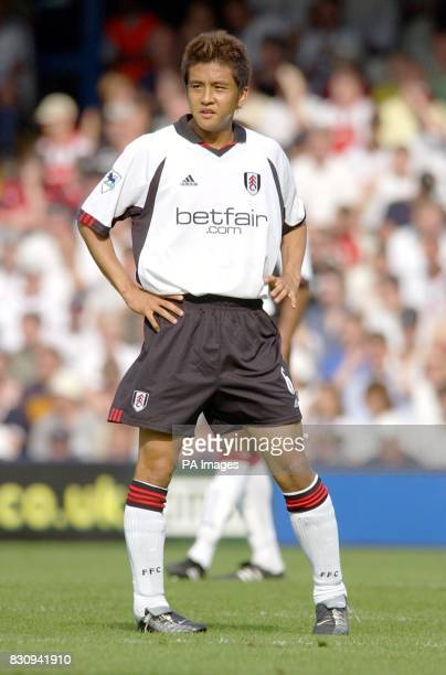 Fulham's Japanese International Junichi Inamoto in action in his side's 41 win against Bolton during their FA Barclaycard Premiership match at...