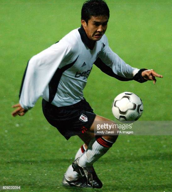 Fulham's Junichi Inamoto in action against Dinamo Zagreb during their UEFA Cup second round match at Loftus Road Stadium THIS PICTURE CAN ONLY BE...