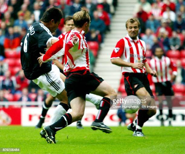 Fulham's Junichi Inamoto scores the opening goal against Sunderland during their FA Barclaycard Premiership match at Sunderland's Stadium of Light...