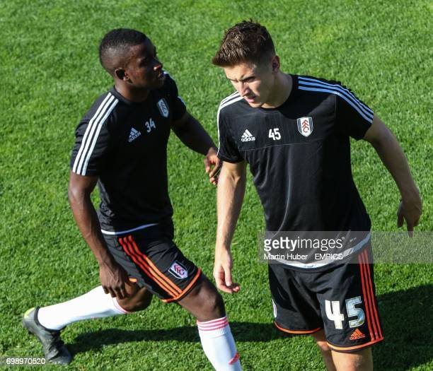 Fulham's Larnell Cole and Tom Cairney during warmup