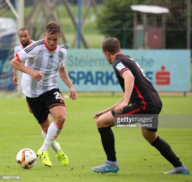 Fulham's Lasse Vigen Christensen and Eintracht Frankfurt's Bastian Oczipka