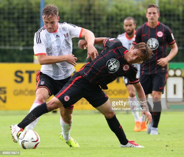Fulham's Lasse Vigen Christensen and Eintracht Frankfurt's Makoto Hasebe