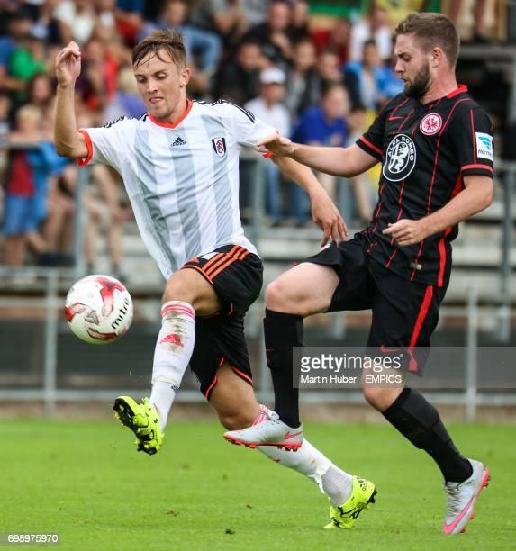 Fulham's Lasse Vigen Christensen and Eintracht Frankfurt's' Marc Stendera