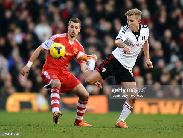 Fulham's Lewis Holtby and Southampton's Morgan Schneiderlin