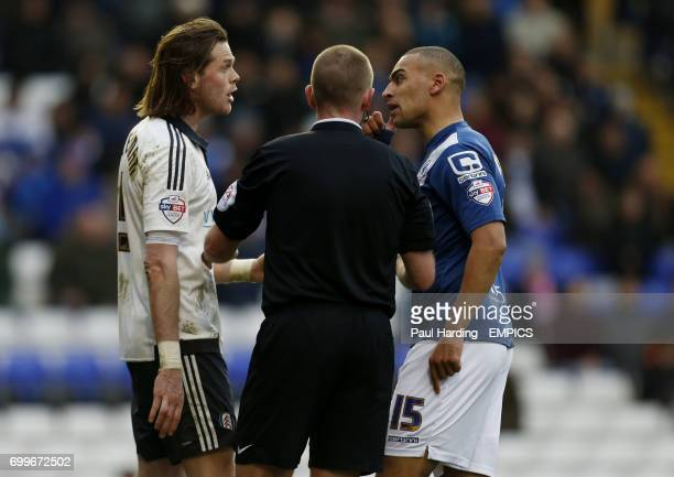 Fulham's Richard Stearman and Birmingham City's James Vaughan