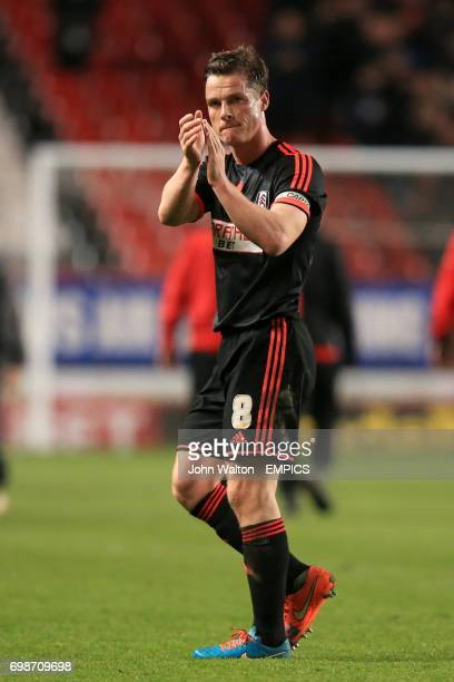 Fulham's Scott Parker applauds the fans after the final whistle