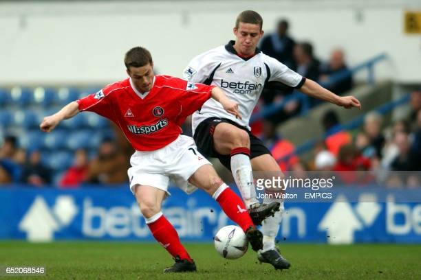 Fulham's Sean Davis battles with Charlton Athletic's Scott Parker