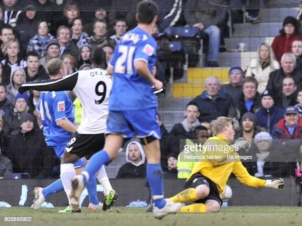 Fulham's Stefano Okaka scores their fourth goal