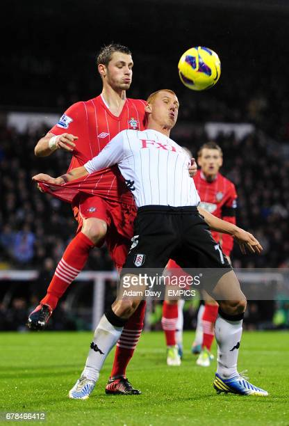 Fulham's Steve Sidwell and Southampton's Morgan Schneiderlin