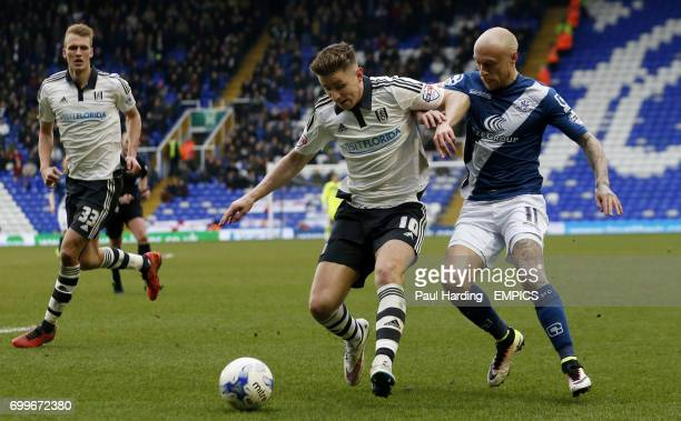 Fulham's Tom Cairney and Birmingham City's David Cotterill