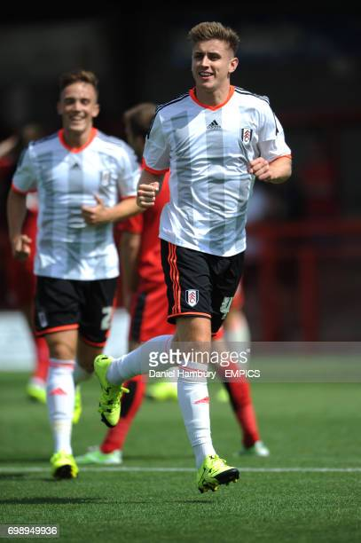 Fulham's Tom Cairney celebrates scoring their first goal
