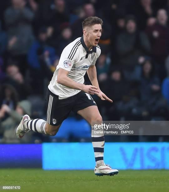 Fulham's Tom Cairney celebrates scoring their third goal