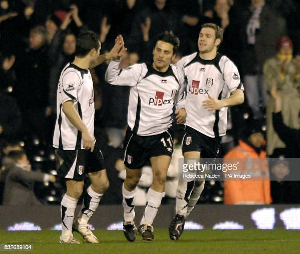 Fulham's Vincenzo Montella celebrates his goal
