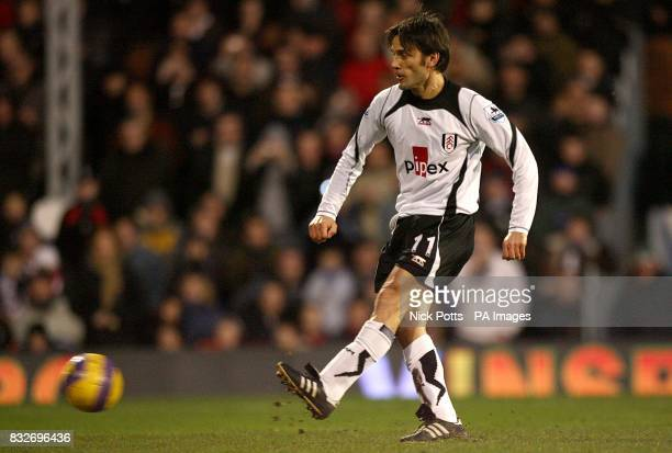 Fulham's Vincenzo Montella scores the opening goal of the game