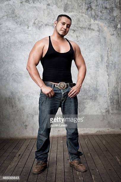 Full body portrait of young Mexican man