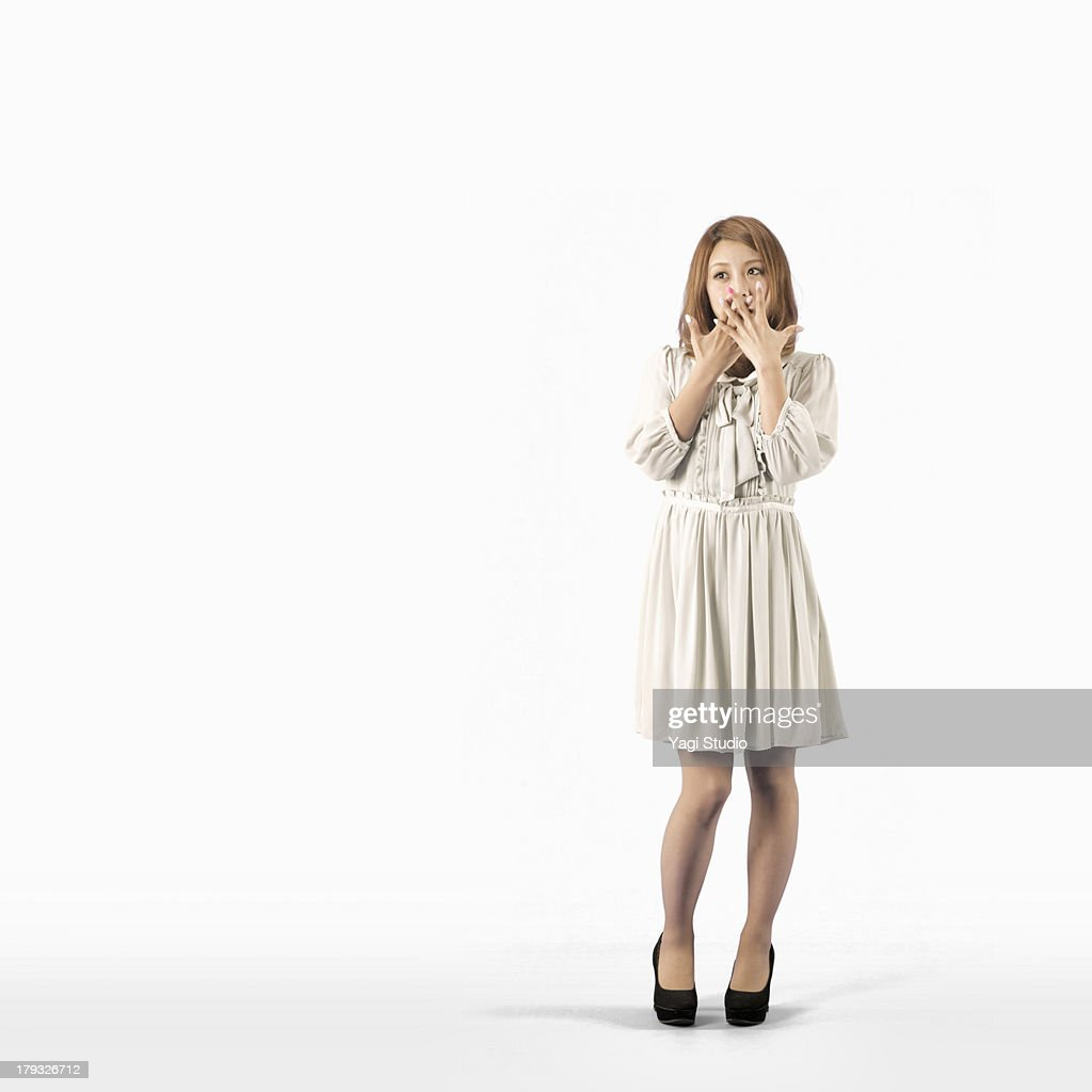 Full body shot of a woman : Stock Photo