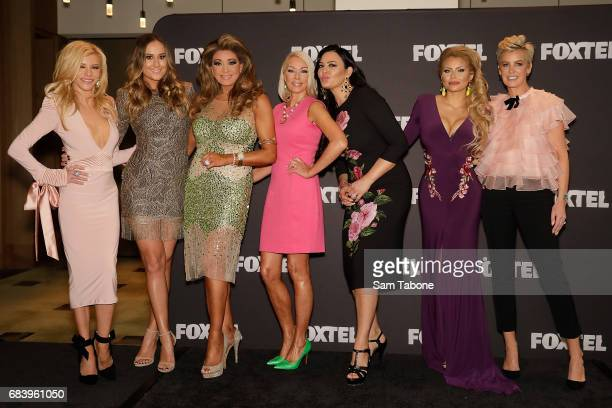 Full Cast during the Real Housewives Of Melbourne Season 4 Media Call at Grand Hyatt Melbourne on May 17 2017 in Melbourne Australia