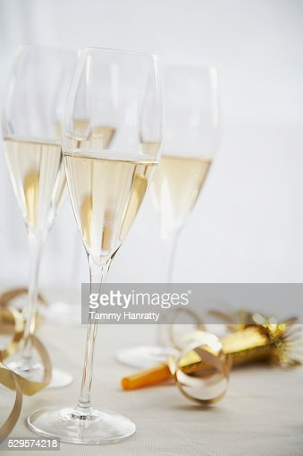 Full Champagne Glasses : Stock Photo