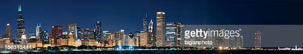 Full Chicago Skyline Panoramic composite