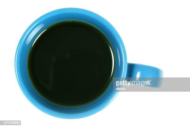 Die Tasse Kaffee auf Weiß