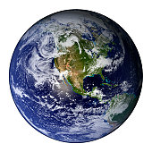 Full Earth showing North America.