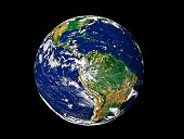 Full Earth showing South America.