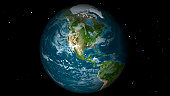 Full Earth view showing North America.