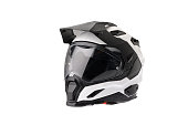 Full face Motorcycle white helmet, close the face shield use to protect the head from injuries. Isolated image with white background