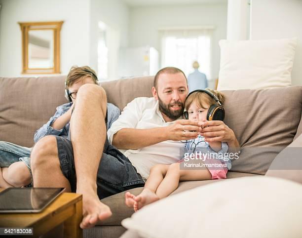 Full family at home