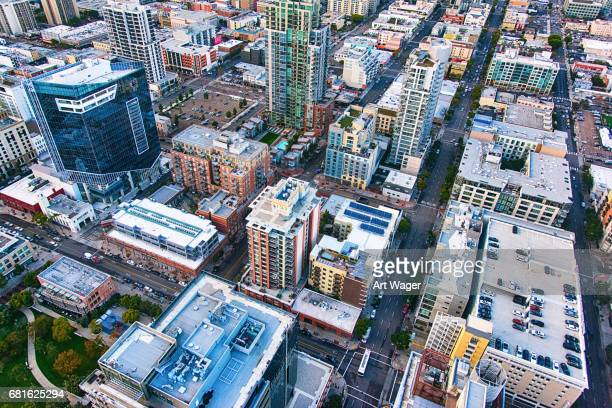 Full Frame Aerial View of Downtown San Diego