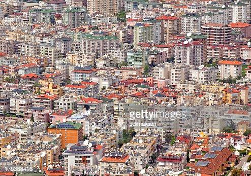 Full Frame Background Of Modern City Buildings