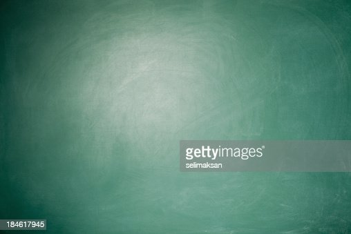 Full Frame Blank Green Blackboard Background With vignette around