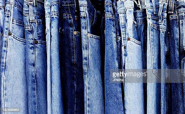 Full Frame Blue Denim Jeans