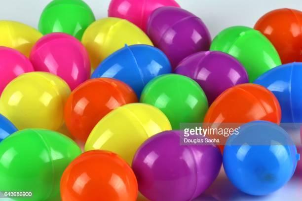 Full Frame colorful plastic Easter Eggs