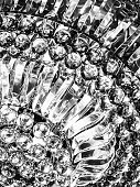 Full frame extreme close-up of crystal chandelier