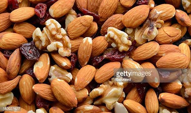 Full Frame Image of Mixed Nuts and Dried Fruit
