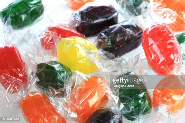 Full frame of a Candy displayed on a white background