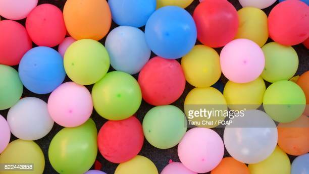 Full frame of a colourful balloons