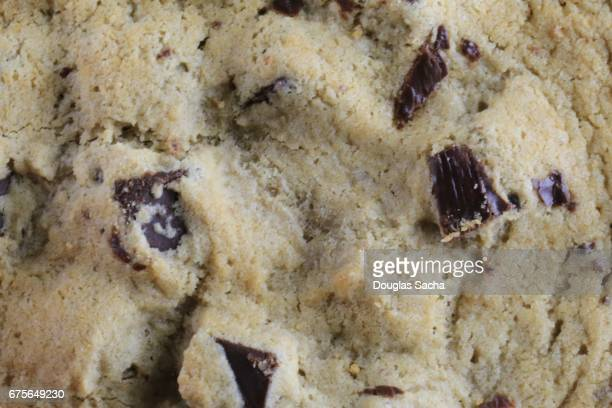 Full frame of a Traditional chocolate chip cookie