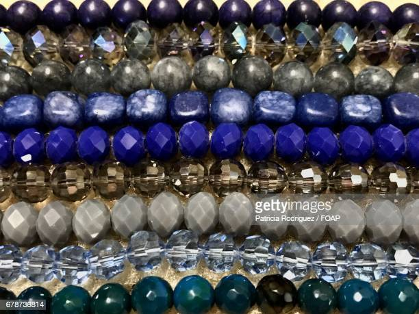 Full frame of beads jewelry