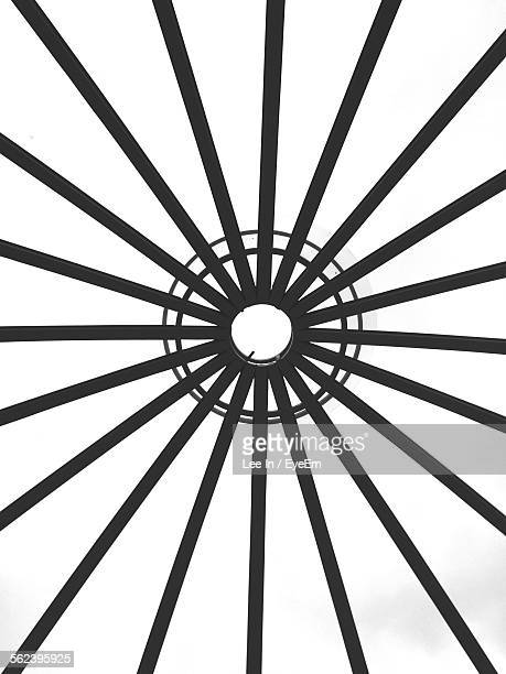 Full Frame Of Black And White Concentric Structural Design
