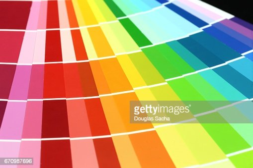 Full Frame Of Paint Color Sample Chart Stock Illustration | Getty