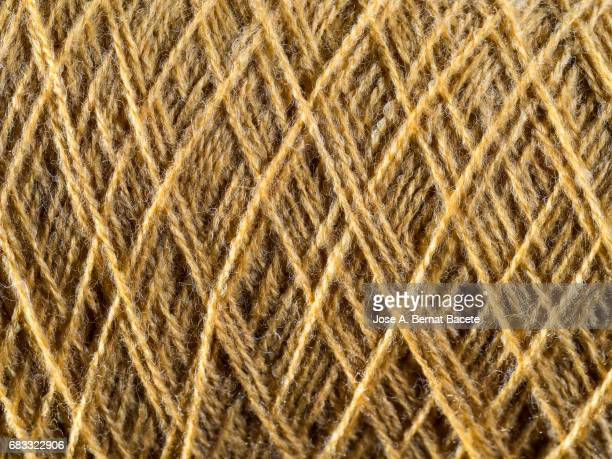Full Frame of the threads of a skein of  brown wool