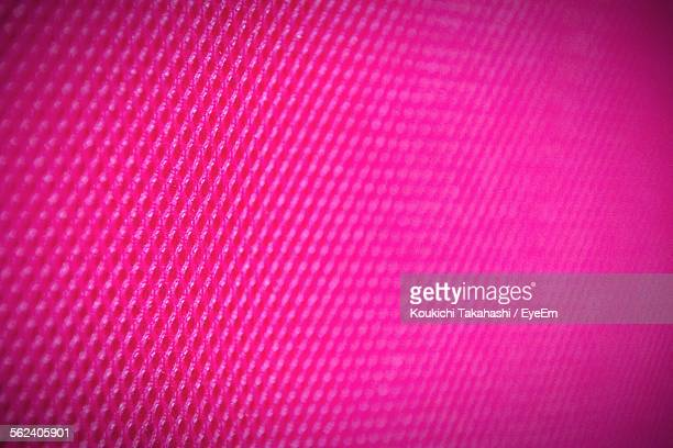 Full Frame Of Vibrant Pink Faux Leather Textile