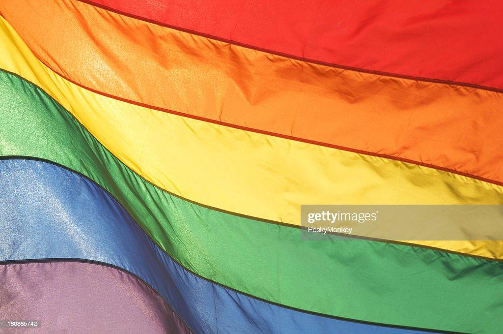Full Frame Rainbow Flag Shines Bright