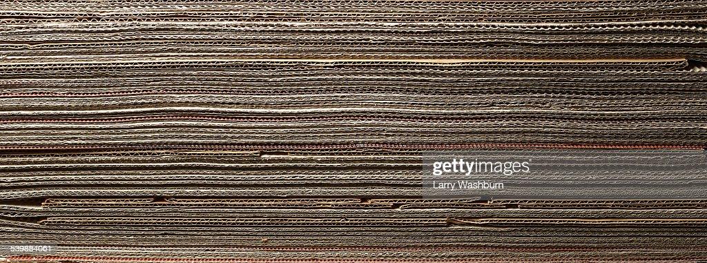 Full frame shot corrugated cardboard