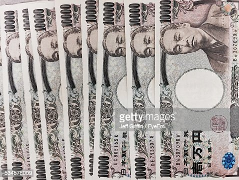 Full Frame Shot Of 10000 Japanese Yen Notes